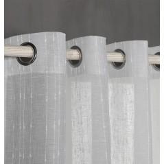Perdea semi-transparenta cu dungi verticale confectionata cu inele Bin Gri