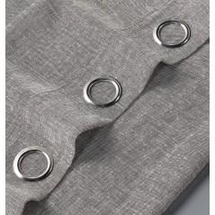 Perdea transparenta texturata confectionata cu inele Matilda Gri