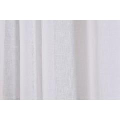 Perdea transparenta texturata confectionata cu inele Matilda Alb