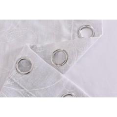 Perdea transparenta cu textura fina confectionata cu inele Clavel Gri