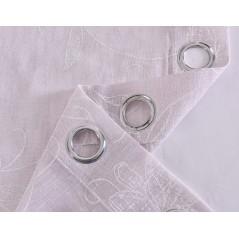 Perdea transparenta cu textura fina confectionata cu inele Clavel Mov