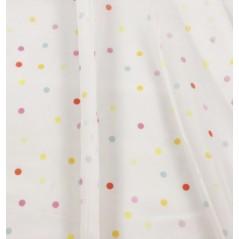 Metraj perdea copii din voal alb cu buline colorate