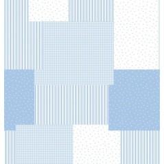 Draperie bleu pentru bebelusi Cocese