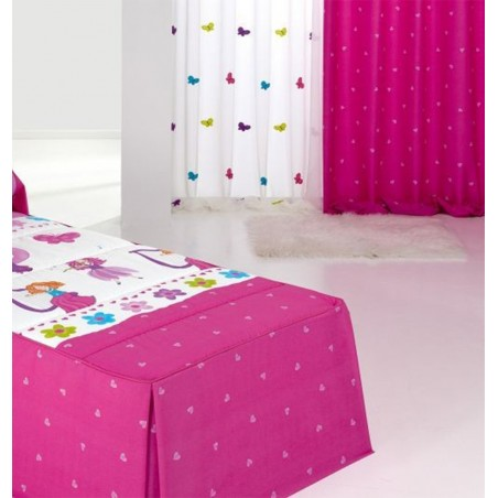 Draperie copii cu inimioare pe fond roz Candy