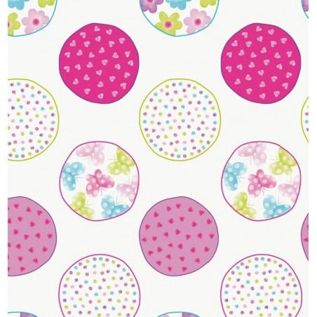 Draperie copii cu cercuri colorate Candycore