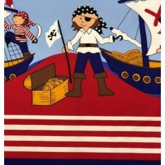 Draperie copii albastra cu pirati Piratas