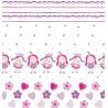 Metraj draperie pentru copii cu printese Wendy roz cu alb