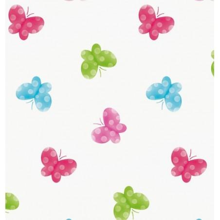 Draperie copii cu fluturi pe fond alb Butterfly