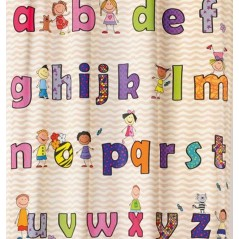 Draperie copii cu litere colorate Abecedaire