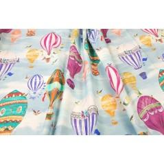 Metraj draperie copii cu baloane zburatoare Tahiti Aerostat