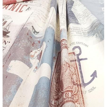 Metraj draperie copii cu imprimeu Tahiti Gunavy