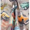 Metraj draperie copii si adolescenti cu masini retro Tahiti Pegaso