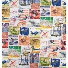 Metraj draperie copii si adolescenti cu timbre Tahiti Newselloavion