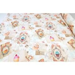 Metraj draperie fete cu briose Tahiti Vintage Cake