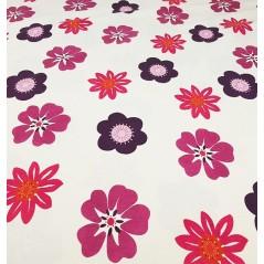 Metraj draperie copii cu flori mov si roz Nico Trisca Magenta