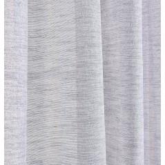 Perdea transparenta cu fir argintiu confectionata cu inele Brigitte Gri