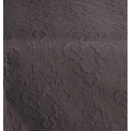 Cuvertura de pat jacquard negru Sorbona