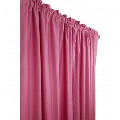 Draperie confectionata cu tiv in nuante de roz inchis
