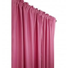 Set 2 draperii confectionate cu tiv in nuante de roz inchis