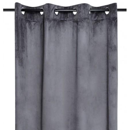 Draperie catifea confectionata pe inele Danae gri inchis