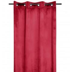 Draperie catifea confectionata pe inele Danae rosu