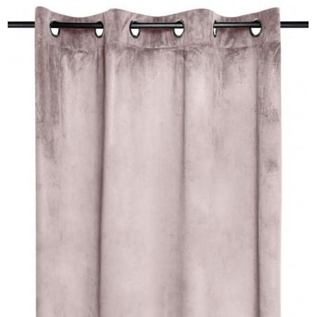 Draperie catifea confectionata pe inele Danae roz prafuit