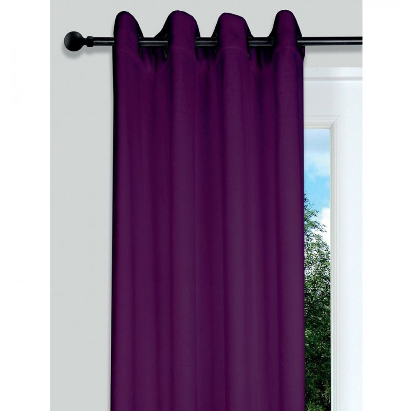 Draperie confectionata pe inele Doudou violet