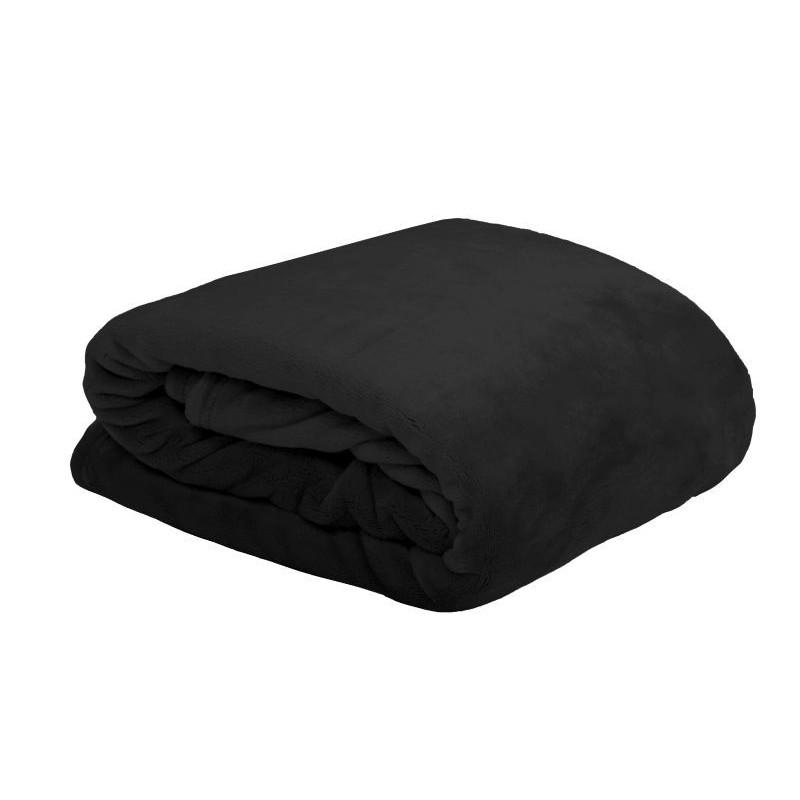 Patura pufoasa Doudou negru 180x220 cm