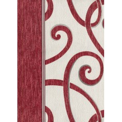 Cuvertura de pat cu model elegant Bet rosu cu alb