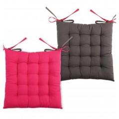Perna scaun bumbac cu 2 fete Duo Gri Fucsia