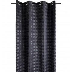 Draperie moderna confectionata pe inele Futura negru