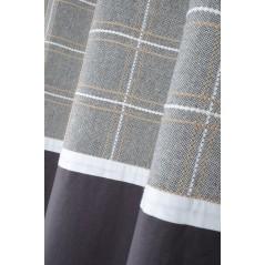 Draperie bumbac cu design modern confectionata cu inele 140x260 cm