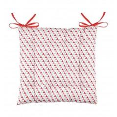 Perna scaun bumbac cu imprimeu geometric Isocele rosu
