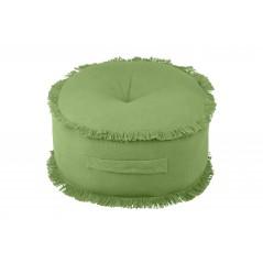Perna podea rotunda bumbac Prague verde
