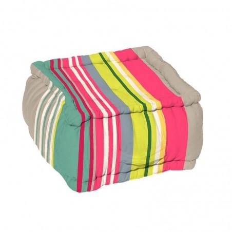 Puf podea multicolor Santacruz Gris Grena