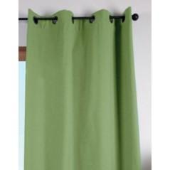 Draperie verde fistic bumbac confectionata cu inele Duo Uni 135x240 cm