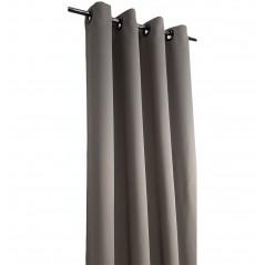 Set 2 draperii blackout grej confectionate cu inele 140x260 cm
