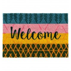 Covoras intrare din cocos multicolor Welcome Orylia