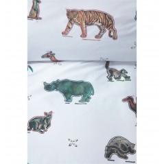 Lenjerie de pat pentru copii cu animale Zoo color