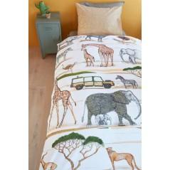 Lenjerie de pat pentru copii din bumbac cu animale Jeep Safari