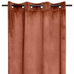 Draperie catifea confectionata pe inele Danae Terracotta