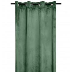 Draperie catifea confectionata pe inele Danae verde