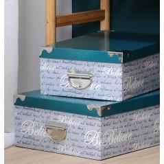 Set 6 cutii depozitare Fashion verde turcoaz cu gri
