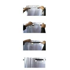 Perdea de dus cu imprimeu si inele flexibile Furgoneta gri