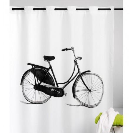 Perdea de dus cu imprimeu bicicleta si inele flexibile Bicycle
