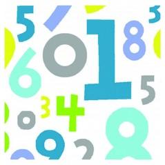 Perdea de dus cu numere colorate si inele flexibile Undostres