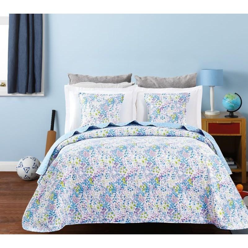 Cuvertura de pat flori mici albastre Candy