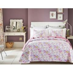 Cuvertura de pat flori mici roz Candy