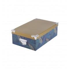 Set 6 cutii depozitare Wildchic mustar cu albastru inchis