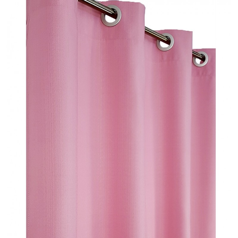 Draperie simpla uni confectionata cu inele Karo roz